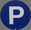 P is for Parking (mitchell haindfield) Tags: public signs sign english municipal signage sansserif services parkinglot garage blue white grey square city urban uppercase p capital letter reversed