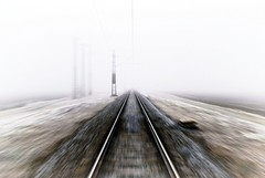 To infinity and Beyond (tomas.jezek) Tags: mist railway railroad track field infinity