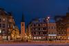 Domplatz (sirona27) Tags: erfurt thüringen deutschland stadt altstadt architektur dom severikirche bauwerke allerheiligenkirche marktstrase winter januar abend beleuchtet schnee