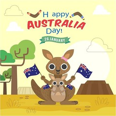 free vector Happy Australia Day 26 January Kangaroo With Baby Background (cgvector) Tags: 26 australia baby badge banner british calligraphic canberra celebration constitution country day democracy democratic election empire festival flag flat freedom government grunge hand happy holiday honor independence island january justice kangaroo liberation nation national new ocean oceania old pacific patriot pattern peace poster religion sign state strength symbol typographic vector victory vintage white