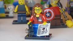 Jovial Reporter Brick Yourself Custom Lego Figure