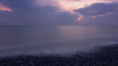 La Mer ... Bonne Nuit ediition :) (lunaryuna) Tags: england eastsussex southdownnationalpark sevensisterscountrypark sea seascape shore pebblebeach aftersunset afterglow sky clouds dusk nightfall sundown lightmood winter le longexposure lunaryuna