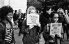 Donald Trump Protest - Manhattan - November 2016 (A Screaming Comes Across the Sky) Tags: nikon nikkor 35mm fs8 ai film analog analogue emulsion black white bw street nyc new york city manhattan trix 400 kodak blackandwhite monochrome road protest people crowd outdoor