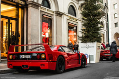 Today was a good day: F40 <3 (David Clemente Photography) Tags: ferrari ferrarif40 f40 f40lm f40gte carspotting carspottingmilan queen supercars cars hypercars f50 80s santaclaus christmas v8 biturbo