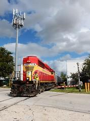 Once in a Lifetime Photo (tolga_boy) Tags: fec florida east coast railway train miami rbbx ringling brothers barnum bailey circus retirement sd402 714