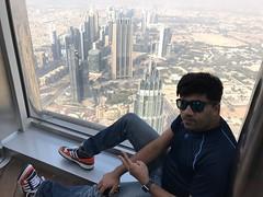At the Top of Burj Khalifa (Aoon Mujtaba) Tags: traveller traveldiaries travelblogs travelling travels travelphotographer travel dubai mydubai dxb mustbedxb uae burjkhalifa atthetop tallestbuilding photography lifegoals