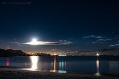 Serious Moonlight (ianrwmccracken) Tags: night d750 nikon winter bay silversands aberdour moon evening sea fife scotland bluehour dark riverforth nikkor1635mm stars sky reflections burntisland