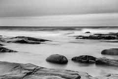 Eternity (NikonStone (on and off)) Tags: nikon d7100 bw ocean longexposure stones rocks atlantic alnes godøy norway