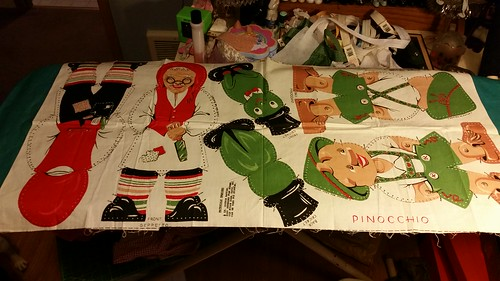 Creepy Pinocchio fabric dolls