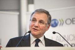 Launch of the first edition of the OECD Business and Finance Outlook. (Organisation for Economic Co-operation and Develop) Tags: paris france business governor outlook ignazio oecd finance banca ditalia visco