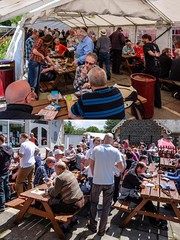 Imbibers at Bitton Beer Festival (velodenz) Tags: velodenz fujifilm x30 digital image pic picture phot photo photograph photography imbiber drink drinker pale ale bitter porter bitton beer festival avon valley railway station people crowd fun party good time south glos gloucestershire england united kingdom uk great britain gb collage montage sustrans bristol bath cycle track path route libation cervesa bière féte bier bierfest feste 1000 views 1000views fujiusers repostmyfuji repostmyfujifilm fuji xseries