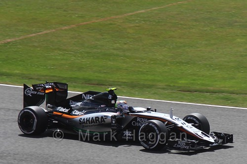 Sergio Perez in qualifying for the 2015 British Grand Prix at Silverstone