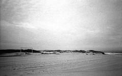 thegoalis (dotsally) Tags: blackandwhite film beach portugal solitude noiretblanc yashicat5 t5 ilford yashica seebw