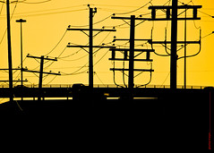 No Bird On The Wire (graeme.hyslop) Tags: canada cars silhouette vancouver bc wires poles