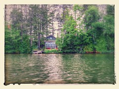 Rustic camp on a quiet lake (yooperann) Tags: camp lake nature effects google bass michigan rustic upper peninsula gwinn autoawesome