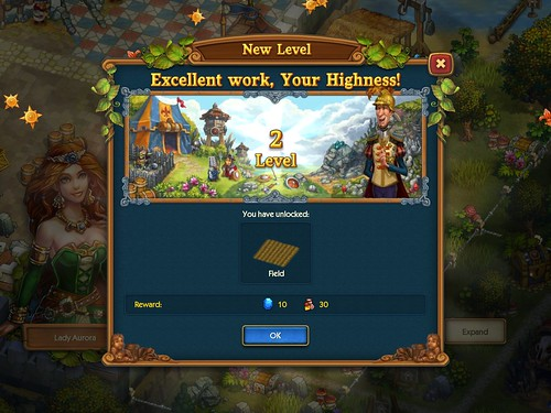 The Tribez & Castlez - Play with friends! Level Up: screenshots, UI
