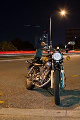Motorbike (JamesArthur98) Tags: light sky night point photography nikon long exposure time tripod australia brisbane southbank motorbike trail kangaroo nikkor antartica manfrotto 1835 d7100