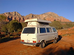 Vanagon backview top up