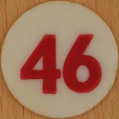 Bingo Number 46 (Leo Reynolds) Tags: xleol30x squaredcircle number numberbingo xsquarex bingo lotto loto houseyhousey housey housie housiehousie numberset 46 sqset120 40s canon eos 40d xx2015xx xxtensxx sqset