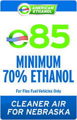 E85- a blend of 85% American Ethanol