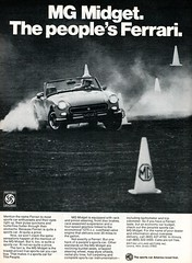 1974 MG Midget Advertising Road & Track July 1974 (SenseiAlan) Tags: road advertising 1974 track july mg midget