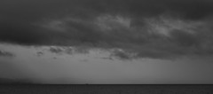 Insignificant (A Crowe Photography) Tags: sea blackandwhite bw seascape water monochrome wales clouds mono blackwhite welshflickrcymru flickrbw bwflickr guardvesselisadale