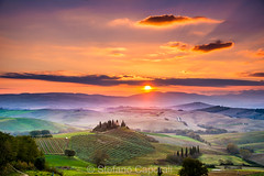 Belvedere, Tuscany countryside (Stefano Caporali) Tags: sunrise sun clouds countryhouse cypress trees farm field italy rollinghills hills sky tuscany country rural countryside sanquiricodorcia valdorcia orciavalley toscana