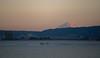 Last light of 2016 on Fuji across Lake Suwa (Big Ben in Japan) Tags: boat fuji gmaster lake lastlight mountain newyearseve suwako