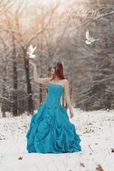 IMG_2998 copy 3 (crissgirl) Tags: snow snowprincess doves winter wonderland magical