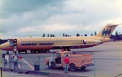 N916RW McDonnell Douglas DC-9-31 cn 47144 ln 239 Hughes Airwest Grand Canyon 19Oct78 (kerrydavidtaylor) Tags: grandcanyonnationalparkairport gcn kgcn arizona dc9 dc930