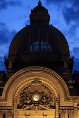 Saat ekonomi saati (halukderinöz) Tags: building bine bluetime mavi zaman saat kapı door bucharest romania bükreş romanya cityscape canoneos40d eos40d hd