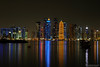 corniche view (NadzNidzPhotography) Tags: nadznidzphotography longexposure seascapes skyline reflection dhow olddhow tower building architecture architectural nightshot nightview