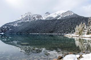 Reflection in Lake Louise.