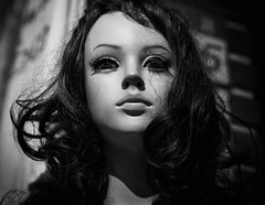 defiant (dr.milker) Tags: taiwan taipei mannequin bw blackandwhite negroyblanco people urban street 台灣 台北 黑白 人偶 街拍 都市 五分埔