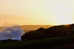 Storm Sunrise (skippyjon2010) Tags: storm sea seascape portrush sunset sunrise wave waves crashing ocean atlantic rocks