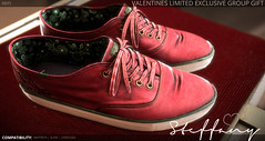 DROPS Valentines Group Gift <3 (snowdrop.firelyte) Tags: valentines shoes mesh sneakers roses red secondlife maitreya slink cute