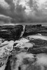 Newbiggin (Callaghan69) Tags: newbigginbythesea seascape seaside sea north coast coastal coastline rocks cracks erosion newbiggin waves water bw blackandwhite northumberland northsea uk nikon d810