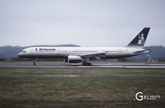 G-BYAG Boeing 757 204 (Gary J Morris) Tags: eggd brs by bal bristol airport lulsgate garymorris airlines boeing 757 gbyag 204 britannia airways 04031994 26965 airline