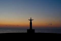 Symbol in the sea(海のシンボル) (daigo harada(原田 大吾)) Tags: symbol dawn sunrise odawara color 小田原 silhouette シルエット