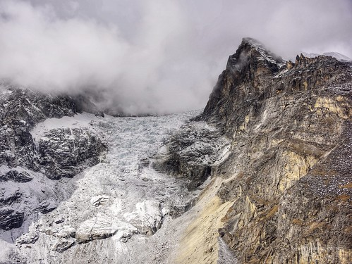 Near Mount Everest - glaciers in the Himalayas