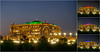 Abu Dhabi Nights - Emirates Palace (Karsten Gieselmann) Tags: 1240mmf28 abudhabi asien blau blauestunde collage em5markii emiratespalace farbe gebäude gelb gold grün hdr hotel licht lila mzuiko microfourthirds nacht olympus reise rot snshdr vae blue bluehour building color golden green kgiesel light m43 mft night purple red travel violett yellow