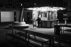 Vienna Night Snack (CoolMcFlash) Tags: night person man vienna austria streetphotography bw blackandwhite blackwhite fujifilm xt2 snack würstelstand nacht mann candid wien österreich sw schwarzweis fotografie photography xf 1024mm essen eating alone alleine standing stehen fast food2 fastfood schwedenplatz city stadt citylife einsamkeit bnw
