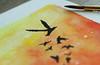 let it go... (Enticing Dreams) Tags: watercolorpainting bird macromondays inspiredbyasong letitgo cropped