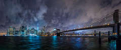 skyline_pacofarero (el_farero) Tags: newyork skyline ny manhattan nightshoot seascape cityscape bridge canon farero clouds night nightcolours river hudson