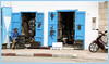 blue doors........ (atsjebosma) Tags: doors blue deuren blauw man working werk motor details atsjebosma things ouezannemorrococ maroc