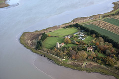St Botolph Church in Iken next to the River Alde - Suffolk UK aerial (John D F) Tags: iken stbotolph riveralde suffolk church aerial aerialphotography aerialimage aerialphotograph aerialimagesuk aerialview viewfromplane river hirez hires highresolution britainfromabove britainfromtheair