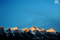 Sunrise (ryan.kole32) Tags: canmore canmorealberta harvieheights harvieheightsalberta alberta canada canadianrockies rockies rockymountains sunrise mountrundle rundle landscape nature beauty beautyinnature clouds bluesky sony sonya77 peaceful calm tranquil winter snow brilliant wow