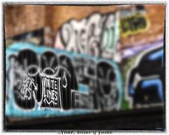 ...Vision, dreams of passion (whistlingtent) Tags: urban graffiti newcastleupontyne ouseburn whitelines grandmasterflash vision passion lyrics song titles colours streetart blur frame