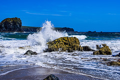 Almighty Splash (Brian Travelling) Tags: unspoilt natural landscape seascape splash almighty blue bluesky water rocks pentaxkr pentax pentaxdal