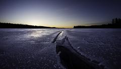 Crack (Kari Siren) Tags: ice water crack lake moon karijarvi jaala finland